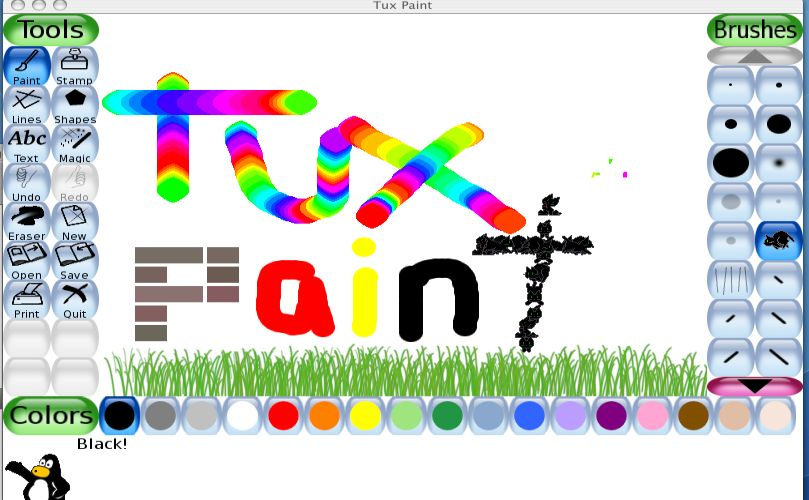 tux paint open source drawing software for children